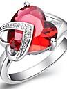 rouges platine plaqué anneaux du compte de laiton femmes de la mode (1pc)