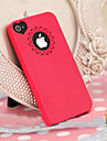 PC Hard Case with Engraving Flower and Heart Shaped Hole Site for iPhone 4/4S(Assorted Color)