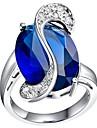 sombres anneaux des états bleu platine en laiton plaqué des femmes classiques (1pc)