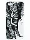 아이폰 4/4s를위한 코끼리 패턴 하드 케이스