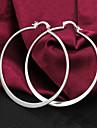 Женский Серьги-кольца Серебрянное покрытие Бижутерия Назначение Для вечеринок Повседневные