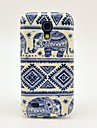 Carpet Elephant Pattern TPU Soft Back Cover Case for Samsung Galaxy S4 Mini I9190
