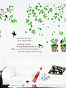 1PCS Colorful Potted Plant Wall Sticker