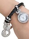아가씨들 패션 시계 손목 시계 팔찌 시계 일본 쿼츠 석영 밴드 블랙