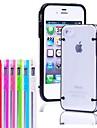 아이폰 4/4S를위한 다크 크리스탈 명확한 단단한 TPU 케이스에 얇은 투명 놀 (분류 된 색깔)
