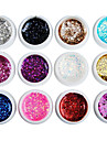Nail Polish UV Gel  0.008 12 Glitters UV Color Gel Classic Soak off Long Lasting  Daily Glitters UV Color Gel Classic High Quality