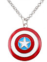 Miss ROSE®Captain America Star Shield Pendant Necklace