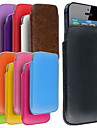 Slim Premium PU Soft Leather Pull Tab Pouch Case Cover for   iPhone (Assorted Color)