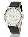 Men's Racing Dial Silver Case Leather Band Quartz Wrist Watch (Assorted Colors) Cool Watch Unique Watch