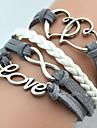 Miss ROSE®Fashion Homemade Heart Shape Love 20cm Women's Alloy Wrap Bracelet(1 Pc)inspirational bracelets