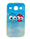 Soft Case amante da coruja Teste padrão para o Samsung Galaxy Núcleo I8262