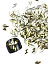 300PCS 3D Golden Rhombus Alloy Nail Art Golden&Silver Decorations