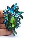 7.8cm Rhinestone и цветка сплава Брошь Pin для женщин ювелирные изделия (другие цвета)