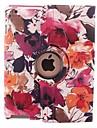 Capa de Couro Grau Cor Flor Ink Projeto 360 Rotating PU e suporte para iPad 2/3/4
