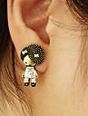 (Girl) Bronze Copper Stud Earrings (1 Pair)