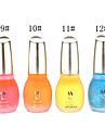 1PCS Laushine Luminous Noctilucent Fluorescent Nail Polish Glow in Dark Eco-Friendly(No.9-12,Assorted Colors)
