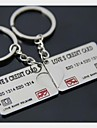 (2 PC) Credit Card Of Bank Of Beautiful Fashion High-Grade Stainless Steel Ccouple Keychain
