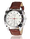 Men\'s Racing Dial Black Case Leather Band Quartz Wrist Watch (Assorted Colors) Cool Watch Unique Watch