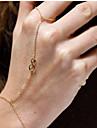 shixin® europeu luckey oito cadeia 37 centímetros de liga de ouro das mulheres& pulseira link (ouro, prata) (1 pc)
