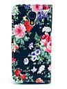 Capa de Couro Black Rose Flower Pattern PU com slot para cartão e suporte para Samsung Galaxy S4 mini-I9190
