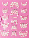 1pcs French Tips Guide Lace Sticker 3D Nail Stickers Abstract Fashion High Quality Daily