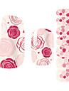 28pcs Розовые розы Дизайн Nail Art Наклейки