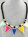 Жен. Заявление ожерелья  -  На заказ европейский Треугольник Геометрической формы Ожерелье Назначение Для вечеринок Повседневные