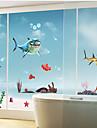 shark parede padrão de etiqueta (1pcs)