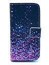 Diamond Fragment Pattern PU Leather Case with Card Slot and Stand for Samsung Galaxy S4 mini I9190