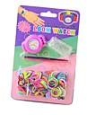 Детские Вязание резинки DIY Кварц Loom Смотреть Дизайн Ваш Стиль Часы (разных цветов)