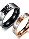 Super Beautiful Exquisite Design Titanium Set Auger Eternal Love Couples Ring