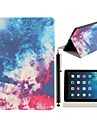 Beautiful Night Sky Pattern PU Leather Full Body Case with Stand and A Stylus Touch Pen for iPad Air