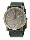 Часы мужские кварцевые с винтажным круглым циферблатом на ремешке из кожзама (цвета в ассортименте)