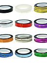 1PCS Чередование ленты Линия ногтей полосы ленты украшения искусства ногтя стикер (разных цветов)