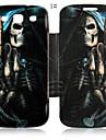 Couro Skulls série legal caso de corpo inteiro para Samsung Galaxy S3 I9300 (cores sortidas)