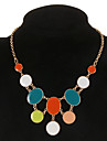 multicolore collier de mode de forme ronde pendante (1 pc)