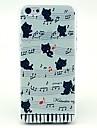 아이폰 4 / 4S \위한 음악 고양이 패턴 하드 다시 커버 케이스