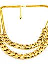Простой стиль Мода Двойной слой европейский Ожерелья-бархатки Слоистые ожерелья Сплав Ожерелья-бархатки Слоистые ожерелья , Для вечеринок