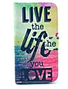 Live Life Sea Design PU Leather Full Body Case with Stand for Samsung Galaxy S3 I9300