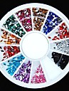 Strass forma 600pcs 12colours diamante acrilico roda nail art decoracao