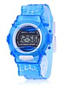 Children's Cost-Efficient Gift Sports Style Translucent Digital Wrist Watch (Assorted Colors) Cool Watches Unique Watches