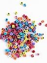 무지개 화려한 베틀 고무 밴드 색상 거대 투명 편지 구슬 100 개