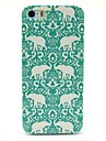 Padrão Flor Elephant Tapete Hard Case para iPhone 5/5S