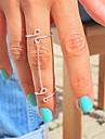 Anéis Pesta / Diário / Casual Jóias Liga Feminino Anéis Meio DedoAjustável Prateado