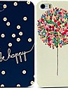 Be Happy & Balloon Pattern Cases for iPhone 5/5S (2-pack)