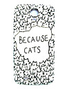 Cartoon Cat Pattern Thin Hard Case Cover for Samsung Galaxy S4 I9500