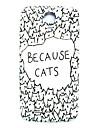 삼성 갤럭시 S4 i9500를위한 만화 고양이 패턴 얇은 하드 케이스 커버