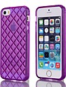 Natusun ™ Solid Color Grid Pattern TPU Soft Case for iPhone 5/5S (Assorted Colors)