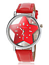 Femme Montre Tendance Quartz Polyurethane Bande Dessin Anime Noir Blanc Bleu Rouge Orange Rose