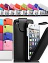 до свернуть кожаный чехол пу для Iphone 4 / 4S (разных цветов)